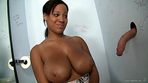 Natasha Dulce ebony with good looking tits glory hole cock suck
