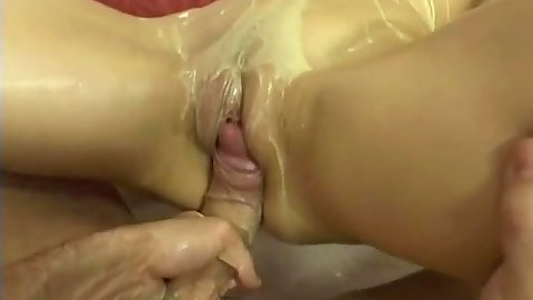 Covered in soup milf Liana cowgirl sex on kitchen floor
