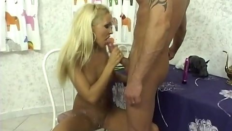 Soup fetish all over shaved twat Adriana Russo