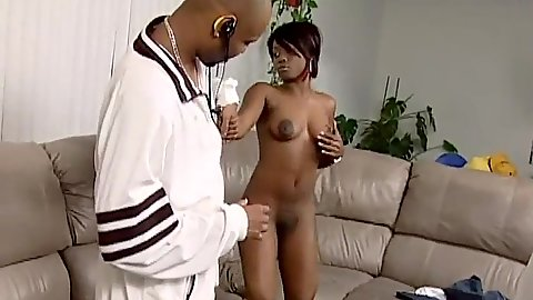 Stripping naked petite and skinny hairless vagina black cutie Jada Fire