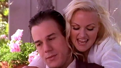 Blonde outdoor girl fully clothed and classy Stacy Valentine