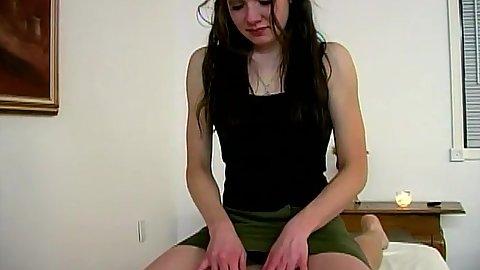 Nice teasing massage with teen Scarlett doing her handjob work