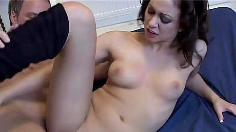 Nice UK skank Renee Richards sideways entered and sitting on dick