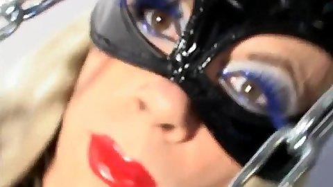 Fetish Mistress Alexandra in fishnet and lingerie femdom for tranny