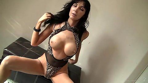 Mature Diana Prince in great shape in sex outfit then blowjob