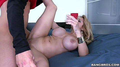 Sideways milf with large boobs fucked Alyssa Lynn