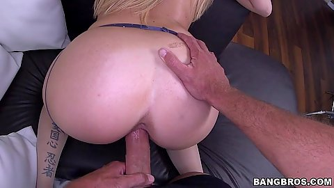 Rear entry standing fuck for stockings skank Lexi Davis