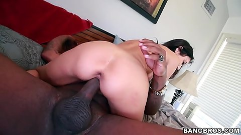Trinity St. Clair in big black cock white girl cowgirl sex