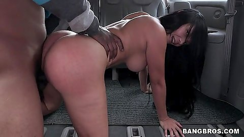 Bangbus doggy style latina sex with big ass whore Casandra