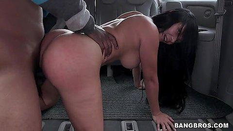 Bangbus doggy style latina sex with big ass whore Casandra