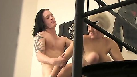 Voyeur spy fuck with college girl getting drilled in one of the rooms