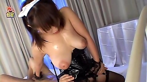 Asian sexy nurse sitting on mans face then cowgirl sex in stockings