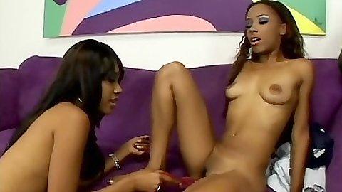 Ebony skinny incredible girls Kapri Styles and Tina Price lesbians