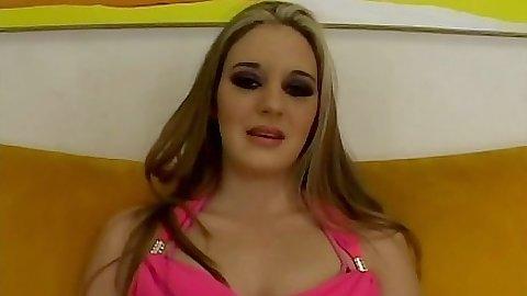 Filthy whore Jade Lashey medium tits pov blowjob