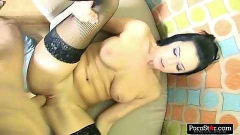 Pov big tits stockings fuck from lovely brunette Presley Maddox