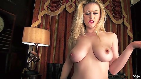 Shaved cunt and big tits with wet girl Brook Little