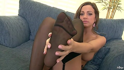 Stunning Abigail Mac and not panties fingeirng
