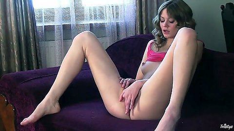 Spunky Patricia masturbation and her nipples are hard
