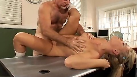 Old man fucking a young student in teachers office Jay Crew