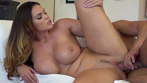 Sideways fucking a huge tits pornstar Alison Tyler
