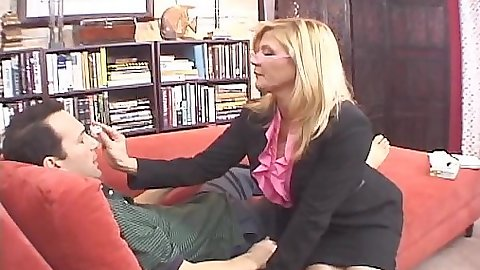 Milf in business suit Ginger Lynn with mom