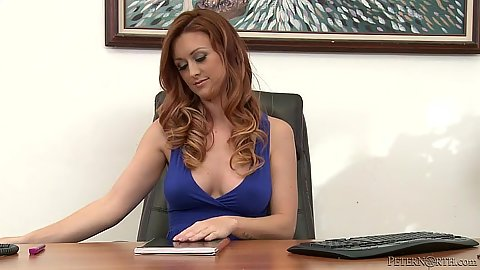 Charming babe Karlie Montana in the office makes out with dde