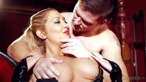 Big tits Lexi Lowe is in a nice controlled sex scene
