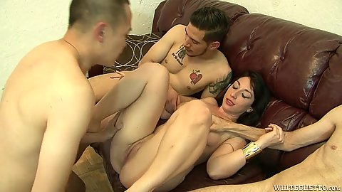 Group gang bang with whore milf Molly Manhattan