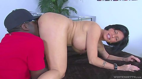 Pussy licking big tits Shay Fox in interracial milf sex