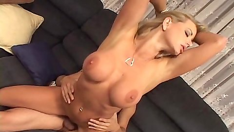 Alluring busty blonde milf mom Vicky Vette in reverse cowgirl