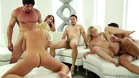 Wife swapping hairy swingers club orgy