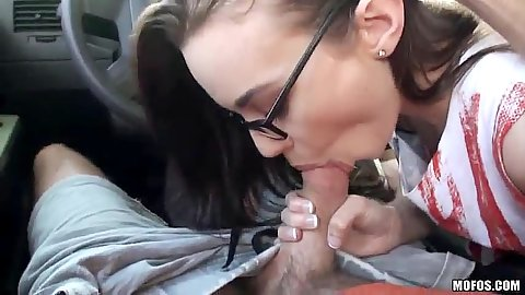 Pov spicy teen blowjob while in the car from Tali Dava