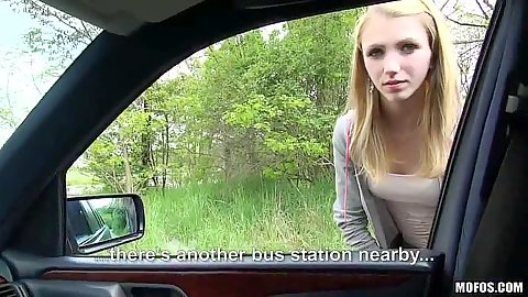 Unsuspecting teen Beatrix Glower picked up and gets in the car