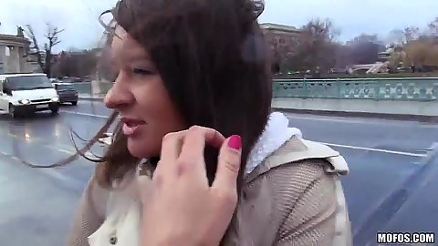Public Anastasia gets quickie picked and convinced to fuck for money