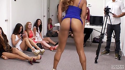 Girl dances to get made for audition shooting Riley Reynolds