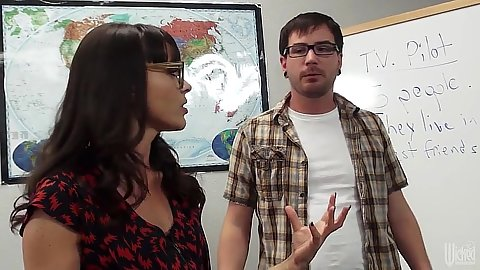 Lovely teacher brunette Dana DeArmond fucking stupid college male student