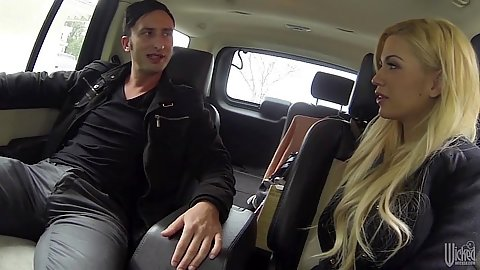 Picked up fully clothed babe Bibi Noel in car with hidden camera