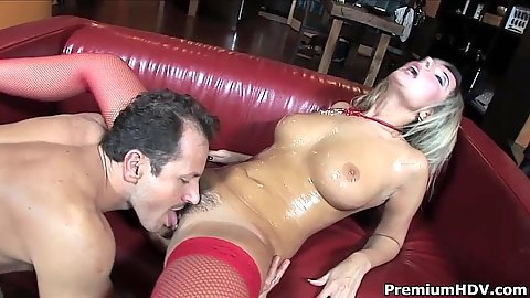 Raunch big tits hairy oil licking slut Daria Glower