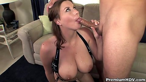 Blowjob and titty fuck excited Sara Stone