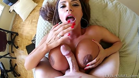Titty fuck and a blowjob with good looking latina milf Ariella Ferrera