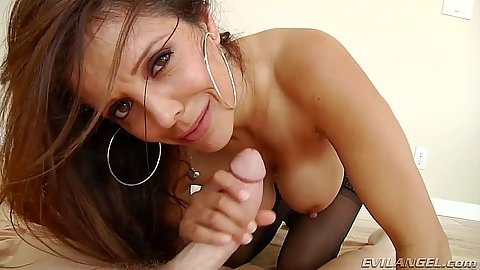 Francesca Le and her hairy pussy on dick riding with anal entry