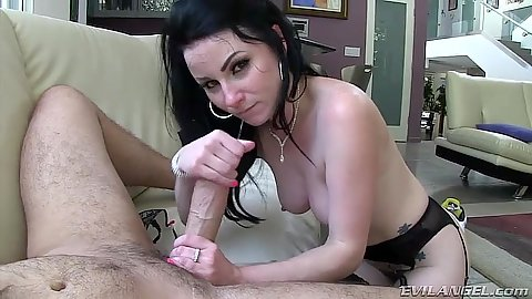 Great Veruca James does a skinny large cock work