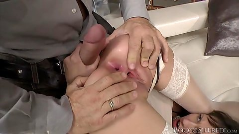 Excited stockings Nadia Bella and Taniella anal entry