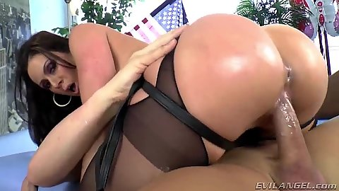 Cowgirl sex and dude gets a dildo in his ass from milf Kendra Lust