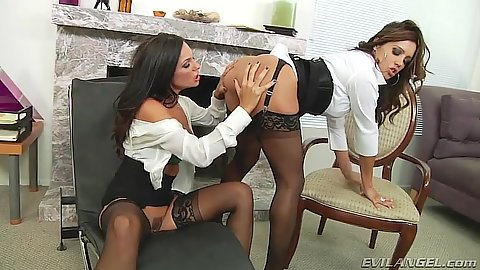 Ass fingering and playing around business sluts Kirsten Price and Francesca Le