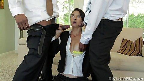Filthy Dana Vespoli getting her interracial fuck done