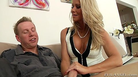 Blonde Simone Sonay a true pornstar milf deep throat