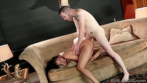 Aiden Starr and Yasmine de Leon white cock black girl sex fuck