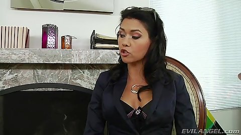 Brunette fully clothed milf Dana Vespoli does blowjob
