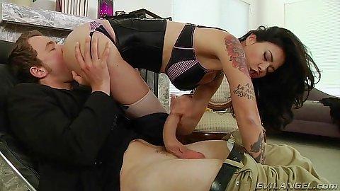 Pussy eating and sitting on cock lingerie milf Dana Vespoli